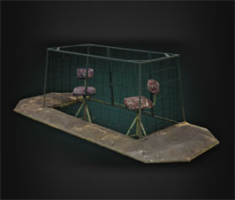 Floating Duck Blind - Rice Blind Thumb Model