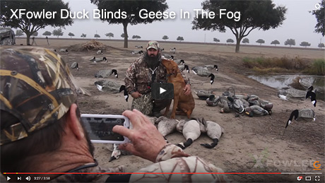 X Fowler Duck Blinds Geese In The Fog Duck Blinds